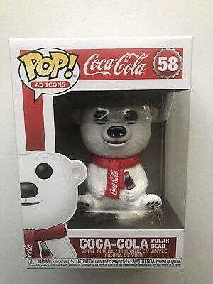 Funko Pop! Coca-Cola Polar Bear #58~ Mint~ Ad Icons Series~ *New*