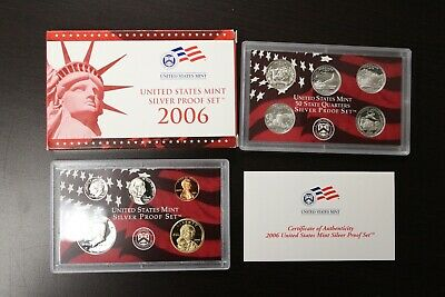2005 US Mint Silver 10 coin Proof Set in Box with COA #626C