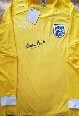 GORDON BANKS Signed In Person GOALKEEPERS SHIRT World Cup 1966 & STOKE CITY COA