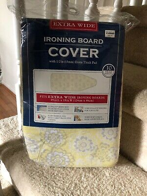 """Bed Bath Beyond EXTRA WIDE 18""""x 49""""-Extra Thick Iron Board Pad Cover NIB"""
