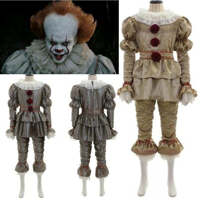 Movie IT Chapter Two Pennywise Adult Kids Halloween Cosplay Bodysuit Costume