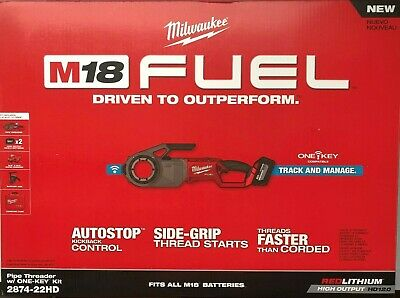 Milwaukee 2874-22HD M18 Fuel Pipe Threader kit w/ One Key NEW in Box