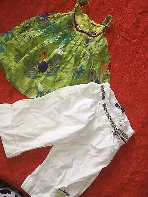 VGC Girls Jean Bourget Designer Summer Outfit Cropped Trousers Tunic Top 3-4