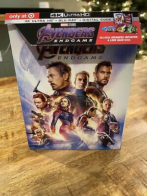 Avengers: Endgame TARGET EXCLUSIVE 4K Ultra HD + Blu-ray Digipak Used NO DIGITAL