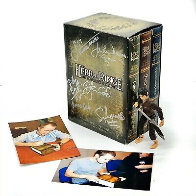 Lord Of The Rings Boxset Signed By Cast Amazing Item For Any Collection Dvd