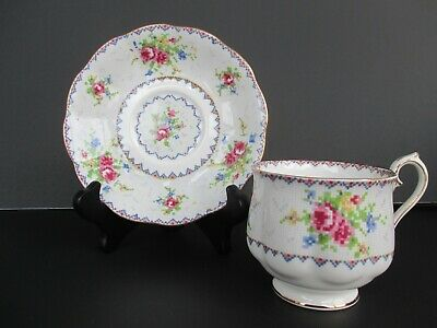 Royal Albert Bone China Petit Point Footed Cup and Saucer