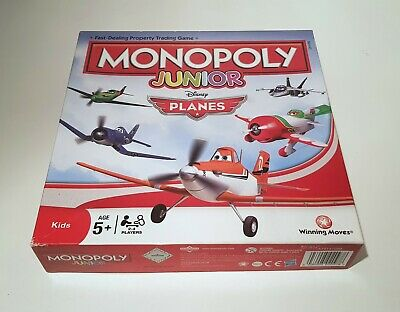 Kids Monopoly Junior Disney Planes Edition Property Trading Board Game +5 Hasbro