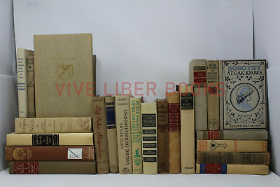 Lot 5 of Cream/Brown/Beige/White/Gray Old Vintage Rare - Hardcover - Random