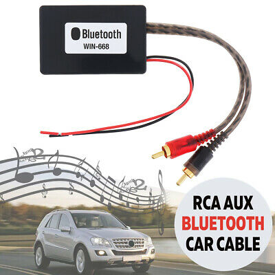 Car Bluetooth Wireless Connection 2 RCA AUX Adapter Audio Input Wireless Cable