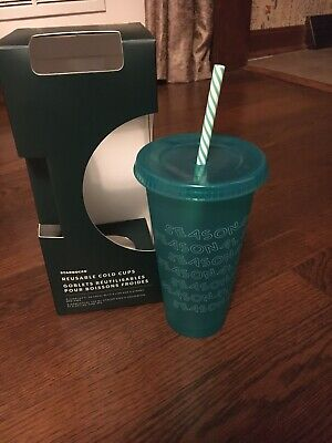 Starbucks Reusable Cold Cup Christmas 2019 - Green Seasonal Shine -Venti Holiday