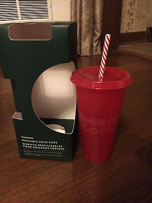 Starbucks Reusable Cold Cup Christmas 2019 - Red Magic Cool - Venti - Holiday