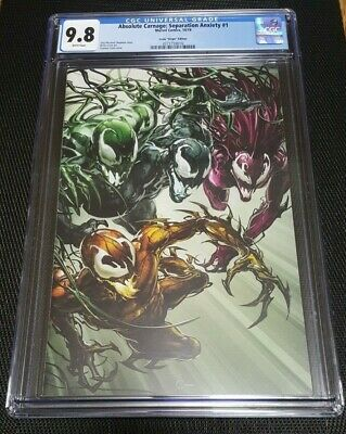 Absolute Carnage Separation Anxiety 1 Variant Virgin 1:100 Crain 9.8 Cgc Venom