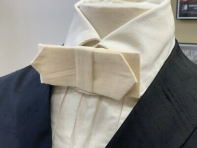 19th century - Victorian Man's OFF-WHITE / IVORY cotton Cravat / Necktie, NEW