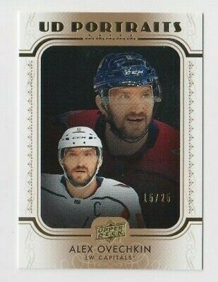 Alex Ovechkin 2019-20 UPPER DECK SERIES 1 UD PORTRAITS GOLD /25 CAPITALS