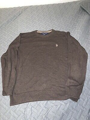 Used US POLO ASSN. MENS Large LONG SLEEVE THERMAL SHIRT Brown