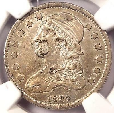 1834 Capped Bust Quarter 25C - NGC XF45 (EF45) - Rare Early Date Certified Coin