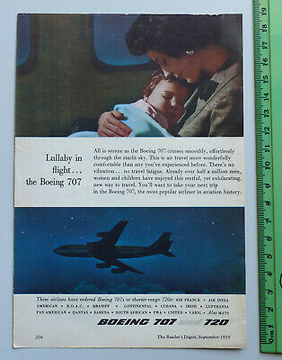 1959 vintage ad BOEING 707 720 advertisement advertising retro advert Jet Plane