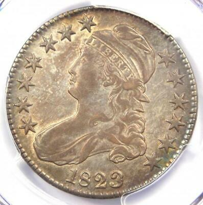 1823 Patched 3 Capped Bust Half Dollar 50C - PCGS AU Details - Rare Variety!