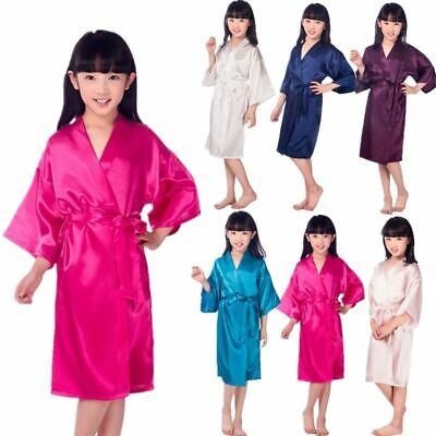 Children Kimono Dressing Gown Bath Robe*Homewear*Sleepwear Pajamas kidGirl L2 UK