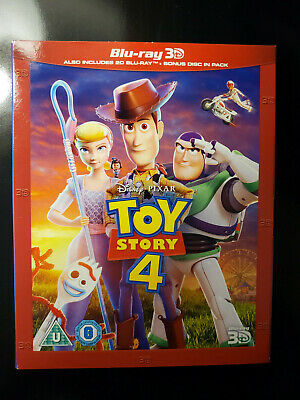 NEW Toy Story 4 3D + Blu-ray + Slipcover (2019) USA Seller Free Shipping