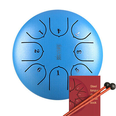 6 Inch 8 Notes Steel Tongue Drum Hand Pan Music Education G Tune With Mallets