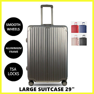 "Aluminium Frame Hardcase Suitcase Large 29"" Travel Luggage Trolley Lightweight"