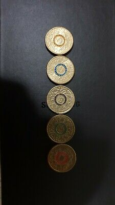2016 Australian Olympic $2 Two Dollar Coins Full Set x5Colours Circulated