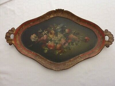 Antique Hand Painted Tray