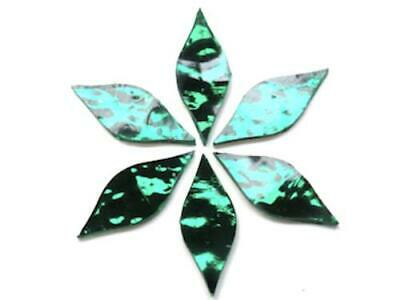 Emerald Green Regalia Mirror Petals - Mosaic Tiles Supplies Art Craft