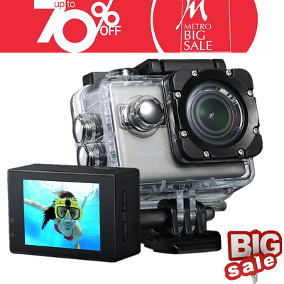 Vtin Action Camera 4K 20MP Wifi Sports Underwater Camera Rechargeable Wide Angle