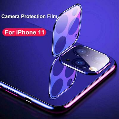 For iPhone 11 Pro Max Camera Lens Screen Metal Tempered Glass Film Protector HD