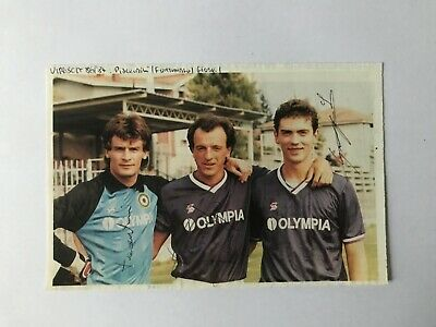 Autografi originali PIACENTINI+FORTUNATO+GIORGI-Virescit 86/87- IN PERSON