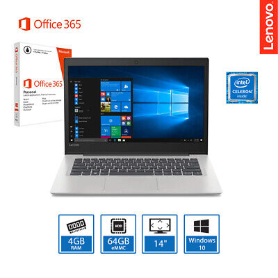 "Lenovo Ideapad S130 14"" Windows 10 Laptop Intel Dual Core 4GB, 64GB + Office 365"