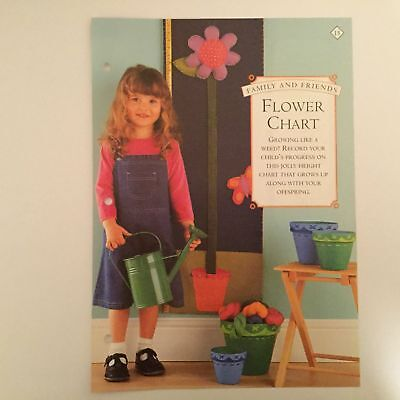 Needlework pattern: Applique flower growth chart design and instructions