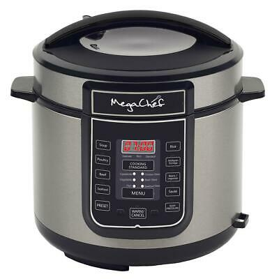 6 Qt. Black Electric Pressure Cooker with Built-In Timer by  MegaChef