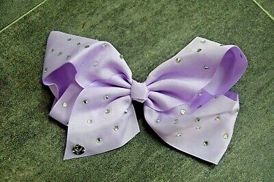 Girls Fab Purple Diamante Effect Studded Hair Bow - In Very Good Condition