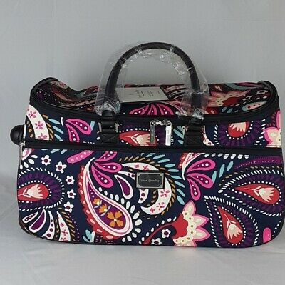 Vera Bradley Rolling Duffel Bag Luggage Painted Paisley New NWT Carry On