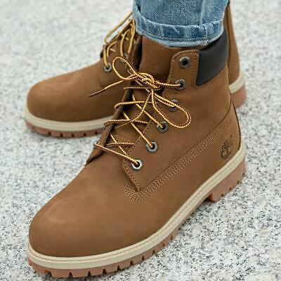 TIMBERLAND 6 IN Premium WP bottines plates à lacets gris