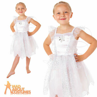 Toddler White Fairy Costume Girls Angel Book Week Day Fancy Dress Outfit