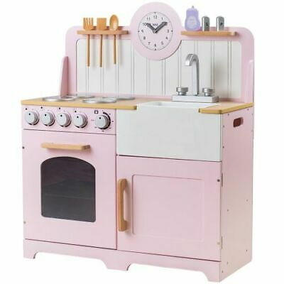 Tidlo Wooden Children's Country Play Kitchen Pretend Roleplay Accessories Pink