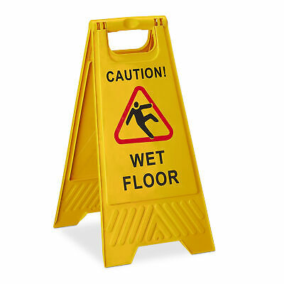 Caution Wet Floor Sign Warning Safety Slippery Surface 'A' Frame Signs