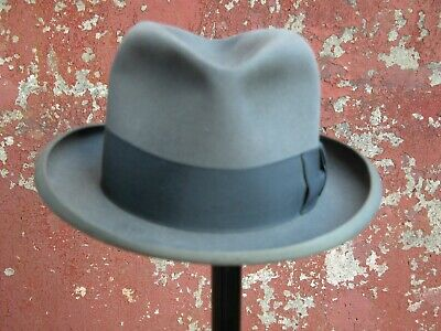 Vintage G A Dunn & Co grey Homburg, piccadilly circus size 6 3/4