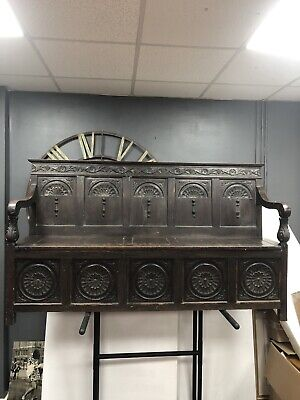 Monks Bench Pew Settle With Storage Edwardian 100 Off years history