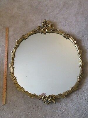 beautiful large louis XVI french style gilt wood frame antique console mirror 3'