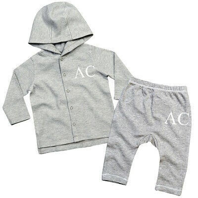 Personalised Baby Tracksuit Stripe Lounge Wear Personalised Gifts New Baby TR2