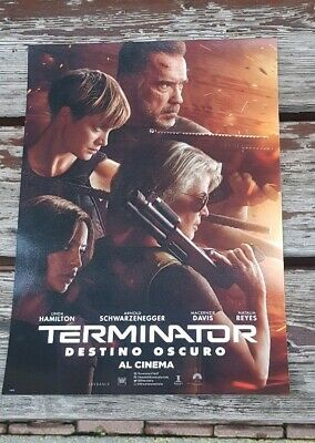 2X TERMINATOR DESTINO OSCURO UFFICIALE ODEON MOVIE FILM POSTER 2019 Arnold...