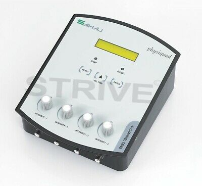 Advanced 4 Channel TENS Electrotherapy 14 Pre-Programs LCD Display Machine Tens