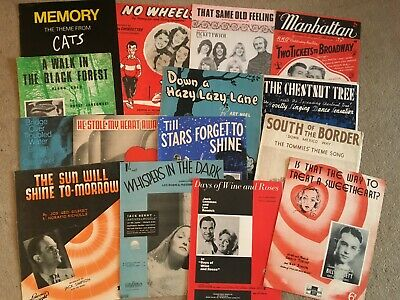 JOB LOT 2  sheet music pieces x 15  for boot fair Usual cost each £5- £14 SALE