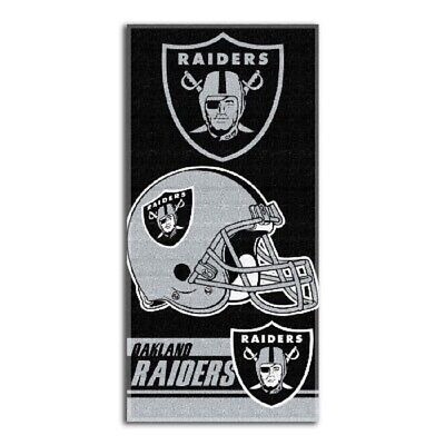 Oakland Raiders Double Covered Beach Towel, 28 x 58-Inch