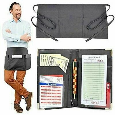 MaryOnArt Waiter Server Book And Apron - Waitress Book 8.2''x5.2'' Guest Check